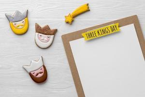 trois rois cookies et bloc-notes photo