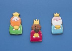 cookies trois rois pour le jour de l'épiphanie photo