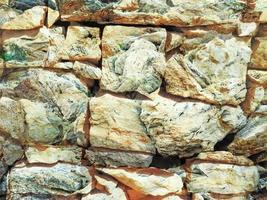 Détail du mur de pierre extérieur pour le fond ou la texture