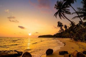 île paradisiaque avec plage et mer photo