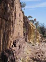 fosses d'ocre utilisées par les Australiens autochtones pour la fabrication de peinture photo