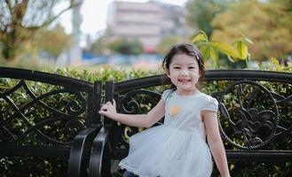 fille dans un parc photo
