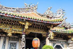 Temple de Longshan dans la ville de Taipei, Taiwan photo