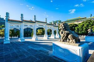 Porte au musée du palais national de Taipei dans la ville de Taipei, Taiwan photo