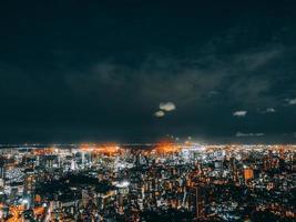 paysage urbain de tokyo la nuit photo