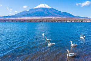 mt. Fuji et le lac Yamanakako au Japon photo