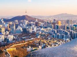 Paysage urbain de Séoul, Corée du Sud photo