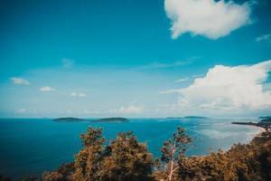 Vue depuis le point de vue de Matsee dans la province de Chumphon, Thaïlande photo
