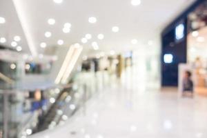 Intérieur du centre commercial flou abstrait