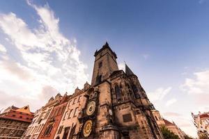 L'horloge astronomique de l'ancien hôtel de ville à Prague, République tchèque photo