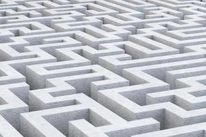 3d illustration du labyrinthe de béton gris photo