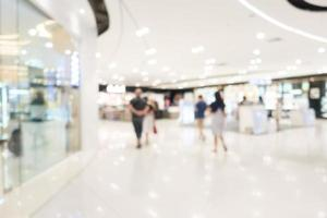 Intérieur du centre commercial abstrait défocalisé photo