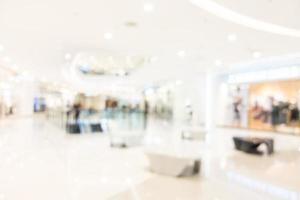 Intérieur du centre commercial abstrait défocalisé