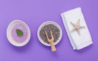 soins de la peau à la lavande bio photo