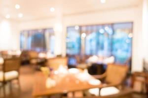 fond de restaurant abstrait défocalisé photo