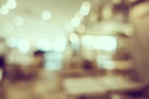 café défocalisé et fond de restaurant photo