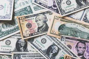 fond de billets en dollars américains ou en dollars américains photo