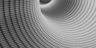 Illustration 3D d'un motif en spirale de cercle profond dans un tuyau