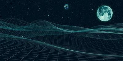 fond illustration 3d de l'univers et des lignes, structure, connexion numérique
