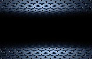 Illustration 3D de fond abstrait en nid d'abeille hexagonal photo