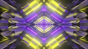 Illustration 3D du couloir futuriste géométrique