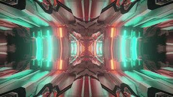 3d illustration du tunnel abstrait symétrique photo
