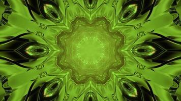 Illustration 3D du tunnel de science-fiction géométrique