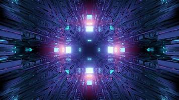 illustration 3d de tunnel de voyage dans le temps de science-fiction photo