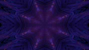 tunnel violet foncé avec néons illustration 3d photo