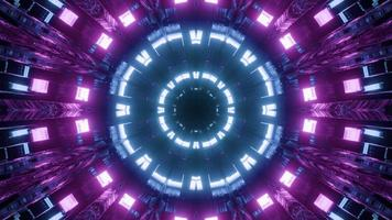 néon coloré rond art design illustration 3d photo