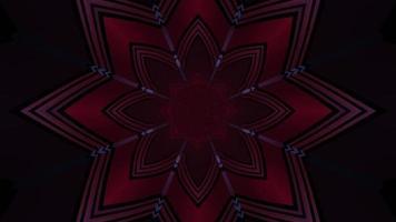 illustration 3d d'ornement en forme d'étoile sombre