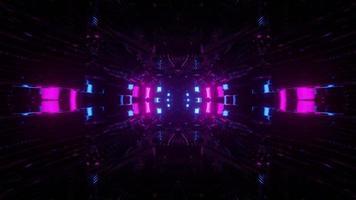 Illustration 3D sur des formes géométriques illuminées dans l'obscurité