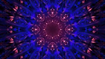 illustration 3d de modèle kaléidoscope futuriste photo