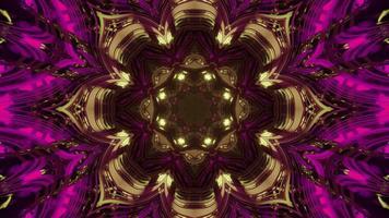 illustration 3d de motif géométrique fleur néon