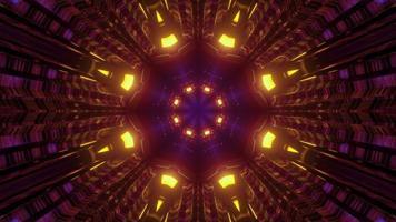 tunnel lumineux avec illustration 3d de conception en forme de fleur photo