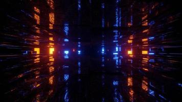 néon dans le tunnel sombre en illustration 3d photo