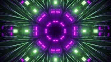 3d illustration du tunnel futuriste avec des lumières vives photo