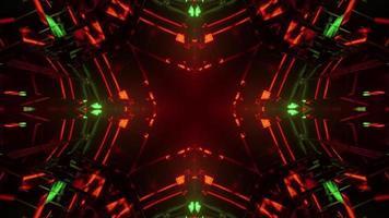 3d illustration du tunnel géométrique