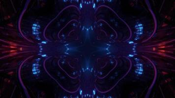 tunnel futuriste avec des murs en miroir 3d illustration photo