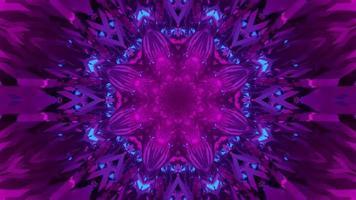 illustration 3d de motif de fleur géométrique brillant photo