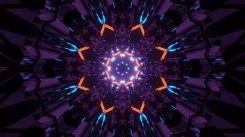 3d illustration du tunnel en forme de fleur géométrique