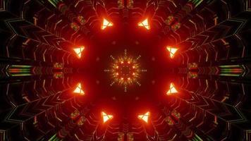 3d illustration du tunnel géométrique avec des ornements symétriques photo