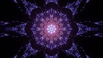 illustration 3d ornementale de motifs lumineux géométriques