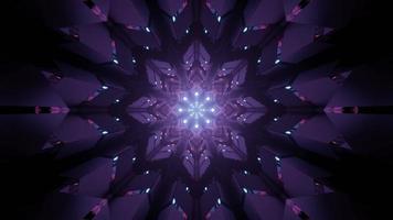 illustration 3d de motif géométrique violet futuriste photo
