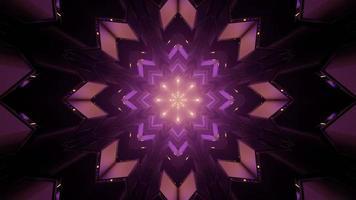ornement fractal créatif avec rayons symétriques en illustration 3d photo