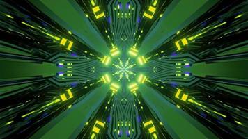 éclairage au néon lumineux de science-fiction art photo