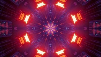 éclairage néon géométrique futuriste de l'illustration 3d
