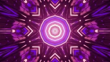 illustration 3d de fond géométrique kaléidoscope rayonnant photo