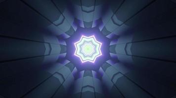 fond futuriste avec illustration 3d de motif étoile néon photo
