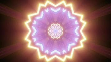 illustration 3d de fleur géométrique néon ornement